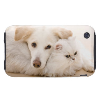 Studio shot of cat and dog iPhone 3 tough cover