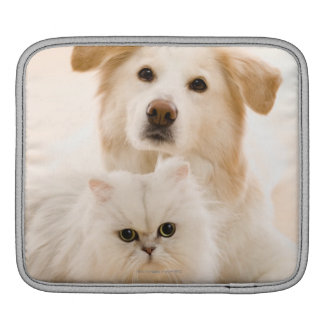 Studio shot of cat and dog sleeve for iPads