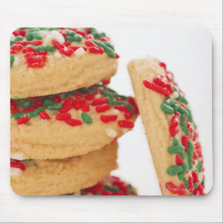 Studio Shot of christmas cookies with sprinkles Mouse Pad