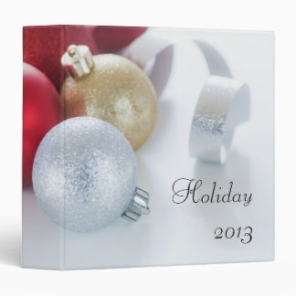 Studio shot of Christmas ornaments Binder
