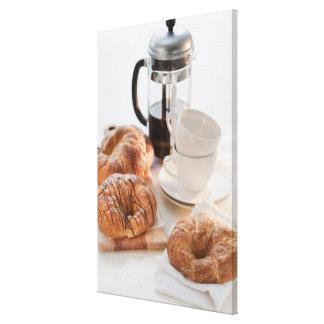 Studio shot of Croissants Canvas Print