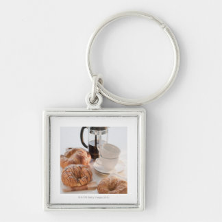 Studio shot of Croissants Keychain