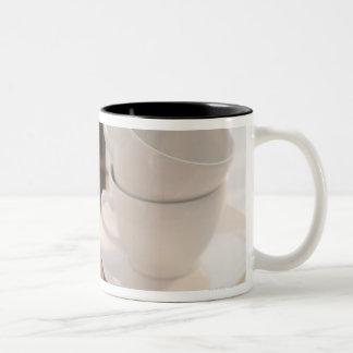 Studio shot of Croissants Two-Tone Coffee Mug