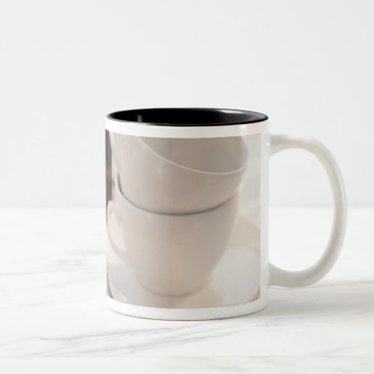 Studio shot of Croissants Two-Tone Coffee Mug