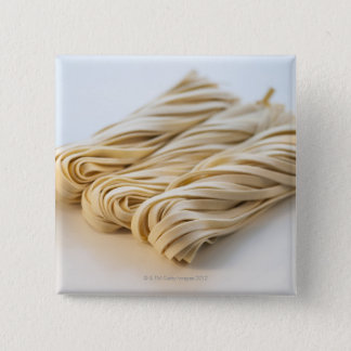 Studio shot of fresh linguini pasta pinback button