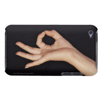 Studio shot of hand gesturing a sign iPod touch Case-Mate case