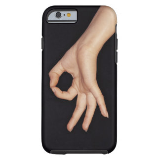 Studio shot of hand gesturing a sign tough iPhone 6 case