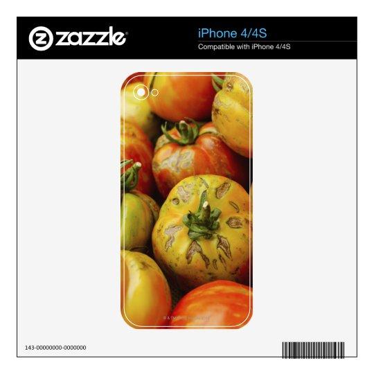 Studio shot of heirloom tomatoes iPhone 4S decal