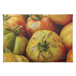 Studio shot of heirloom tomatoes placemat