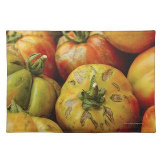 Studio shot of heirloom tomatoes placemats