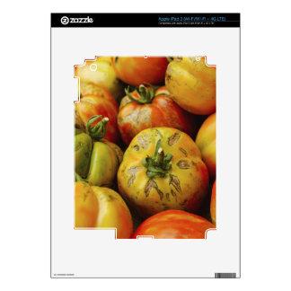 Studio shot of heirloom tomatoes skin for iPad 3