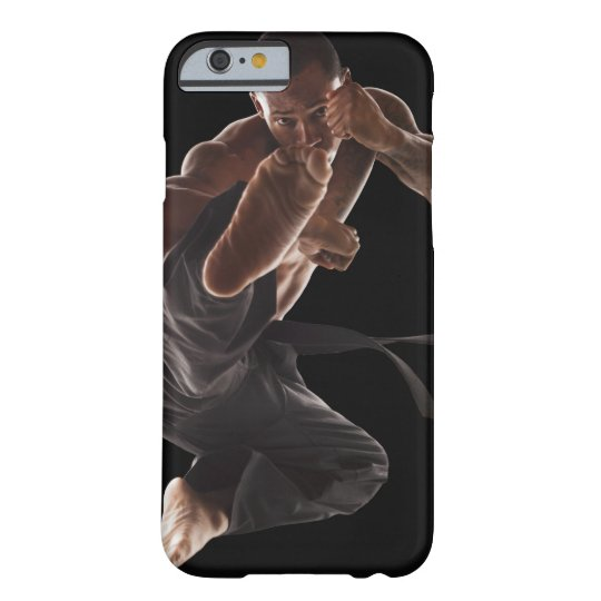 Studio shot of martial arts practitioner in barely there iPhone 6 case