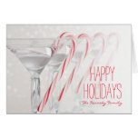 Studio shot of martini drink with peppermint greeting card