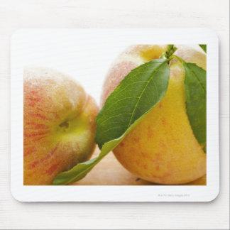 Studio shot of peaches mouse pad