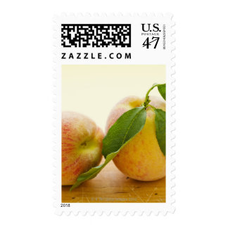 Studio shot of peaches postage stamp