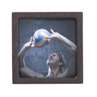 Studio shot of volleyball player playing premium keepsake boxes