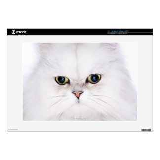 Studio shot of white Persian cat Decal For Laptop