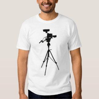Studio Video Camera green destroyed womens tshirt