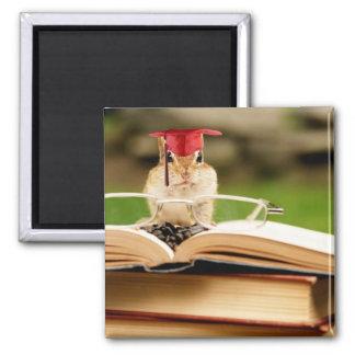 Studious Chipmunk Graduate Magnet