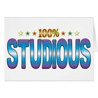 Studious Star Tag v2 Greeting Card