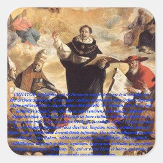 Studium de la apuesta de Oratio S. Thomae Calcomania Cuadradas Personalizadas