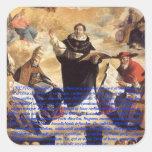 Studium de la apuesta de Oratio S. Thomae Pegatina Cuadrada