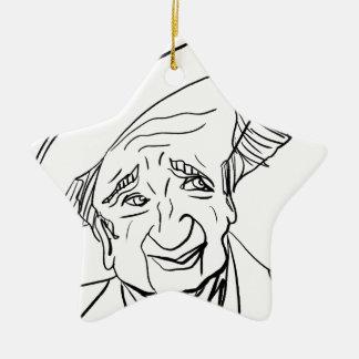 Studs Terkel Ceramic Ornament