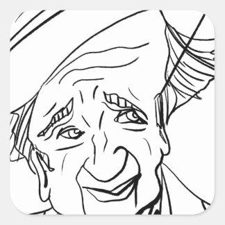 Studs Terkel Square Sticker