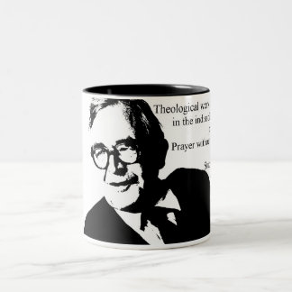 Study and Prayer Karl Barth Two-Tone Coffee Mug