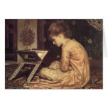 Study at a Reading Desk - Lord Frederic Leighton Greeting Card