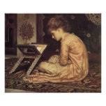 Study at a Reading Desk - Lord Frederic Leighton Print