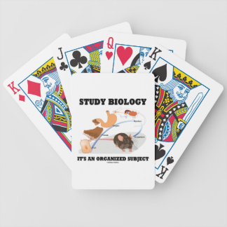 Study Biology It's An Organized Subject Bicycle Card Deck
