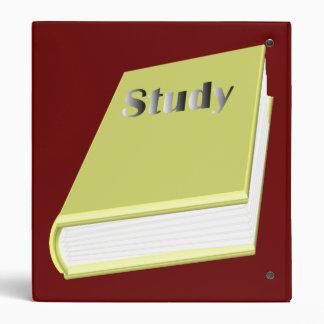 Study Book School Binder