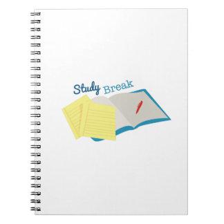 Study Break Spiral Note Books