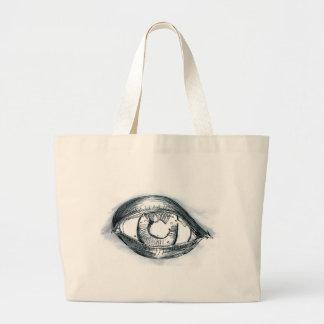 Study BW Eye. Canvas Bags