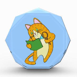 Study Cat Acrylic Award