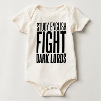 Study English, Fight Dark Lords Baby Bodysuit