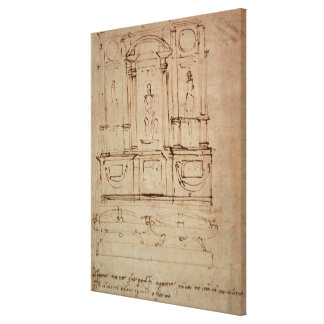 Study for a double tomb canvas print