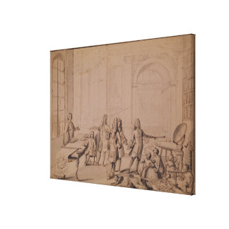 Study for a Lesson being give to the Young Canvas Print