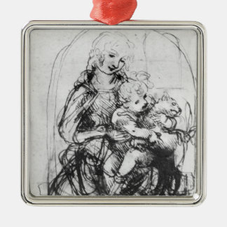 Study for a Madonna with a Cat, c.1478-80 Metal Ornament