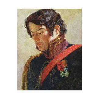 Study for a Portrait of Baron Dominique Larrey Canvas Print