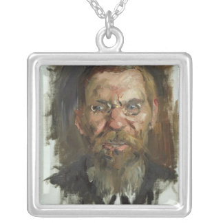 Study for a Portrait of Professor Dr. Eduard Silver Plated Necklace