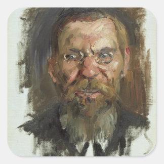 Study for a Portrait of Professor Dr. Eduard Square Sticker