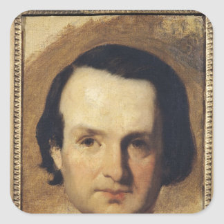 Study for a portrait of Victor Hugo  c.1836 Square Sticker
