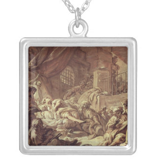 Study for a Prison Scene Silver Plated Necklace