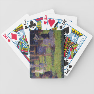 Study for 'A Sunday Afternoon on the Island of La Bicycle Playing Cards