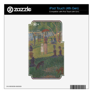 Study for (A Sunday on La Grande Jatte) Decals For iPod Touch 4G