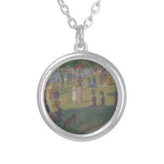 Study for (A Sunday on La Grande Jatte) Silver Plated Necklace