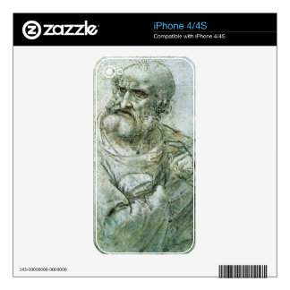 Study for an Apostle from The Last Supper, c.1495 Decal For The iPhone 4