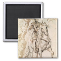 Study for an equestrian portrait magnet